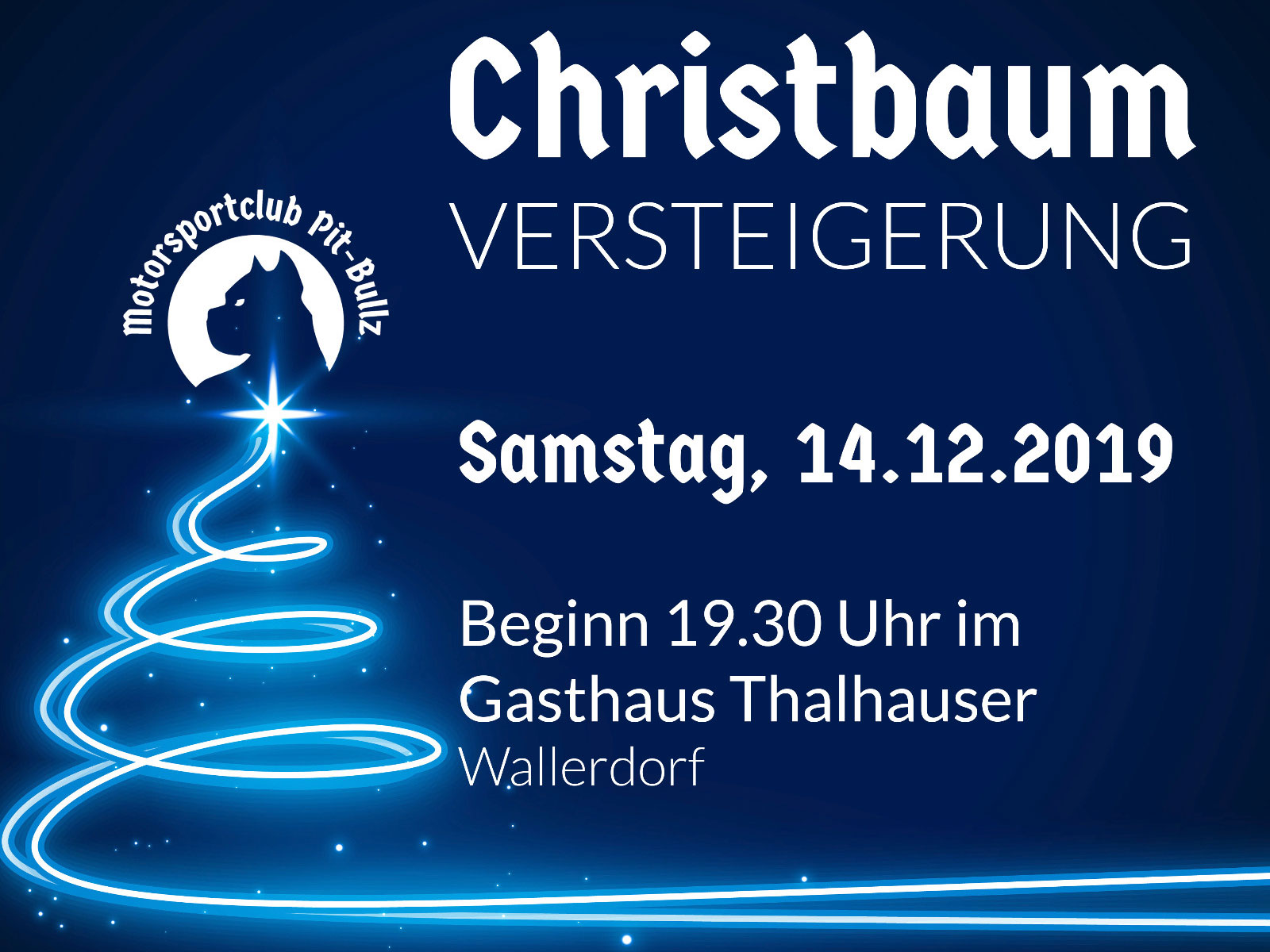 Christbaumversteigerung 2019